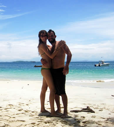 Couple at Gamez Island in the Chiriqui Gulf National Marine Park