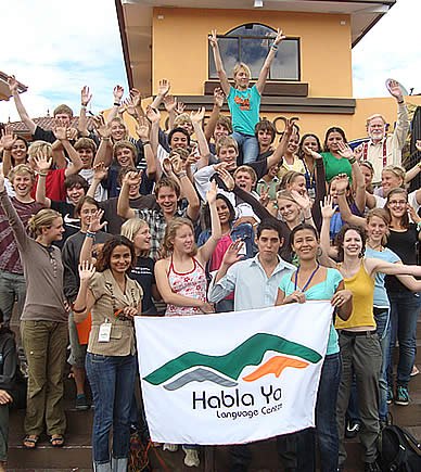 High School Group from Germany in Boquete, Panama, studying Spanish with Habla Ya